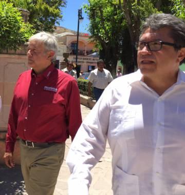 Lopéz Obrador y Monreal juntos en Zacatecas en abril de 2016