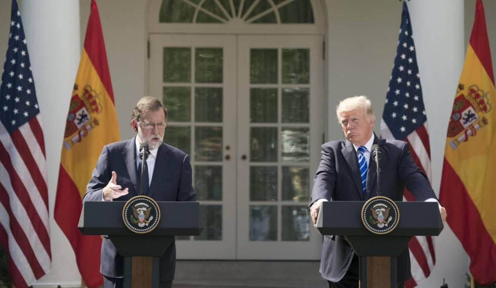 Rajoy y Trump a finales de septiembre en la Casa Blanca