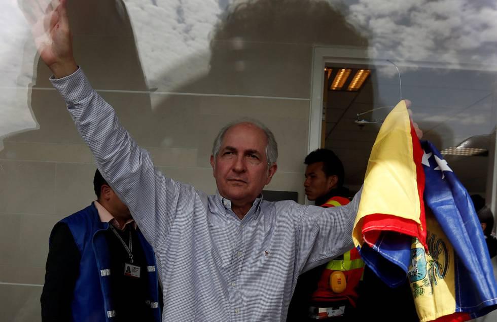 Resultado de imagen para Antonio Ledezma se escapó de Venezuela con destino a España