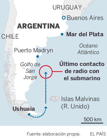 Argentina detecta chamadas de emergência do submarino perdido no Atlântico