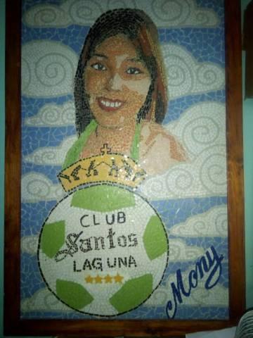 El cuadro en honor de Mónica Liliana Delgado.