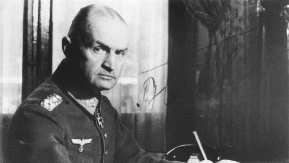 El jerarca nazi Johannes Blaskowitz, en una imagen de archivo.
