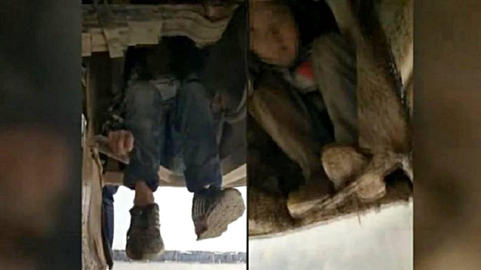Los hermanos, de ocho y nueve años, viajaron escondidos en los bajos de un autobús, en el sur de China.