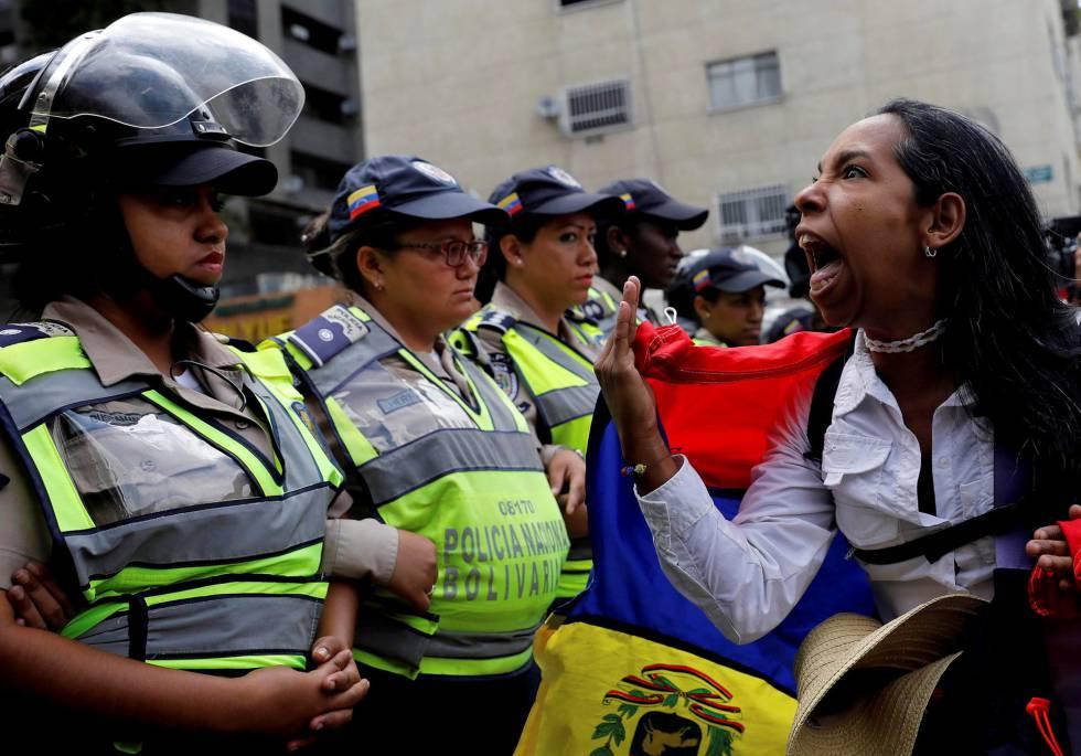 Una protesta en Caracas en mayo de 2017.