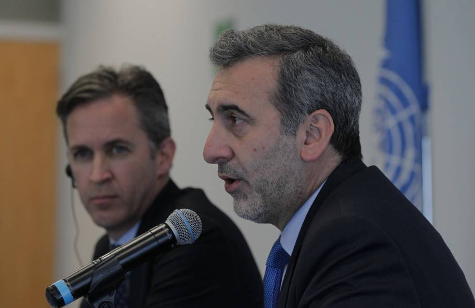 David Kaye, de la ONU, y Edison Lanza, de la CIDH.