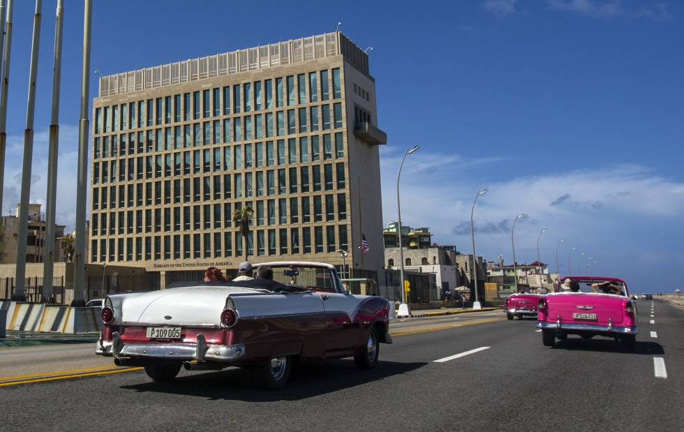 Embajada de EE UU en La Habana.