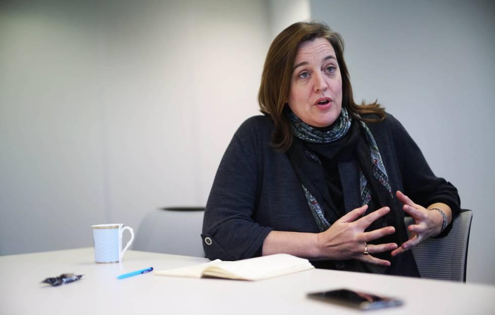 La subdirectora de la unidad de reasentamiento de Acnur, Kate O´Malley en las oficinas de la agencia en Madrid.