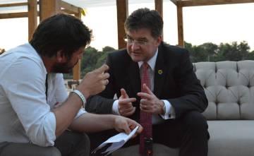 Miroslav Lajčák durante la entrevista