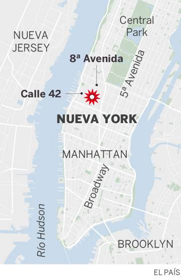 Varios heridos por la explosión en un intento de atentado en el centro de Nueva York