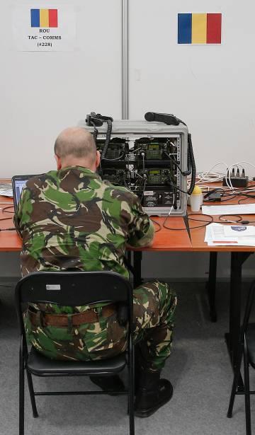 Ejercicios sobre ciberseguridad en la base de la OTAN en Bydgoszcz, Polonia