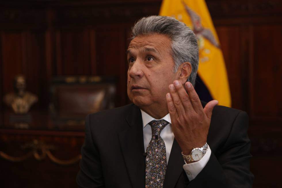 Image result for lenin moreno on assange