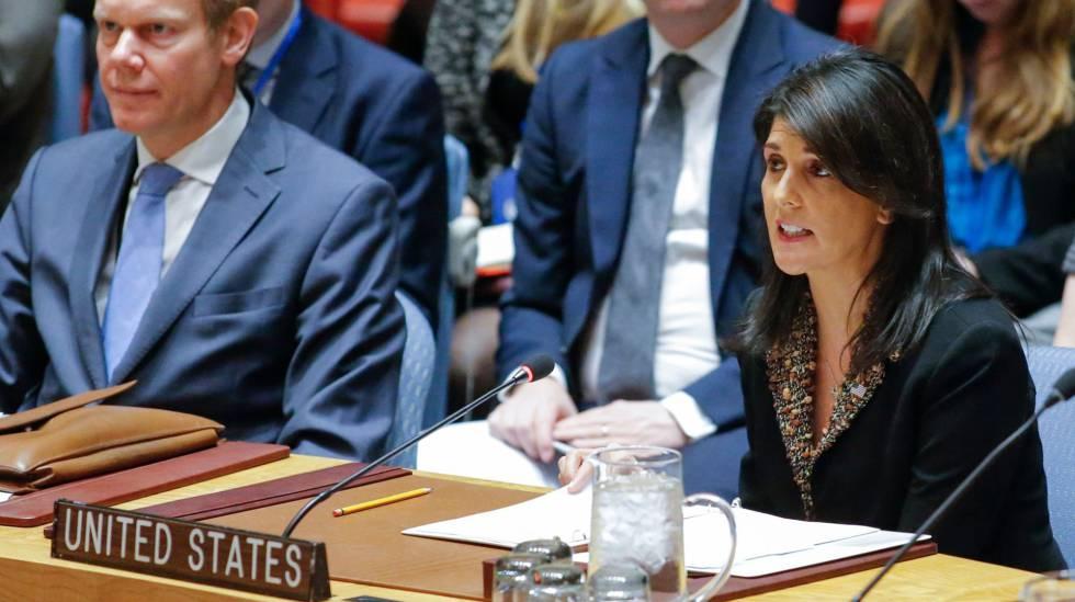 La embajadora de EE UU ante las Naciones Unidas, Nikki Haley