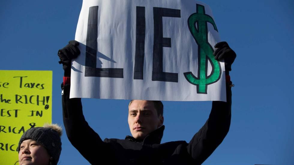 Protesta en el Capitolio contra la reforma fiscal