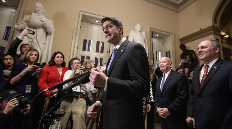 El líder republicano de la Cámara de Representantes, Paul Ryan, este martes.