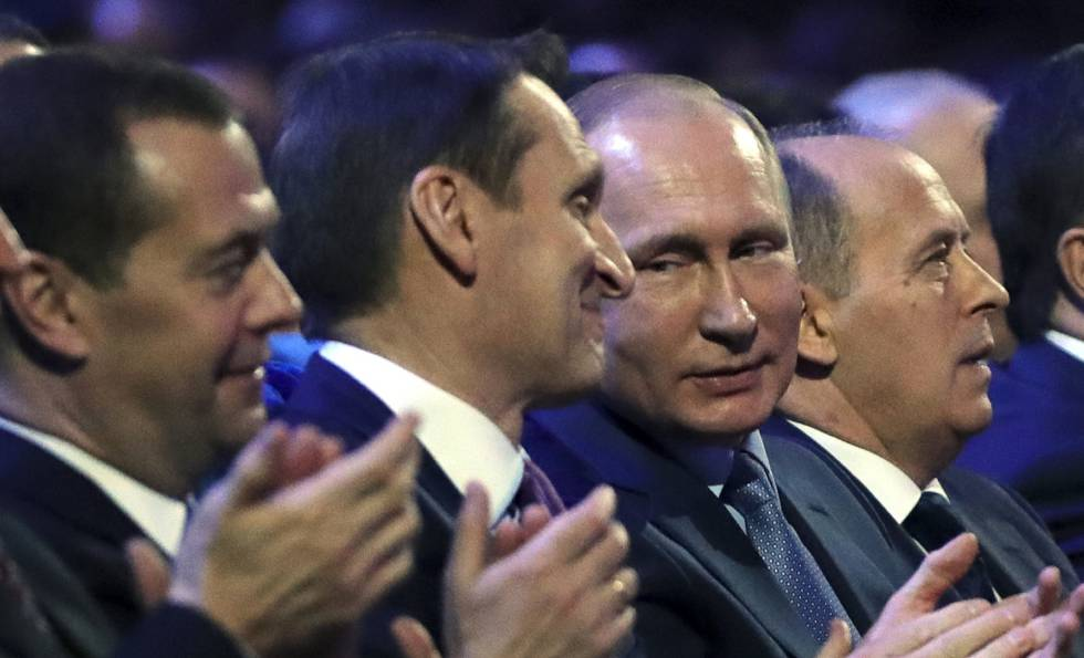 El presidente ruso Vladimir Putin durante un acto celebrado este miércoles en Moscú.