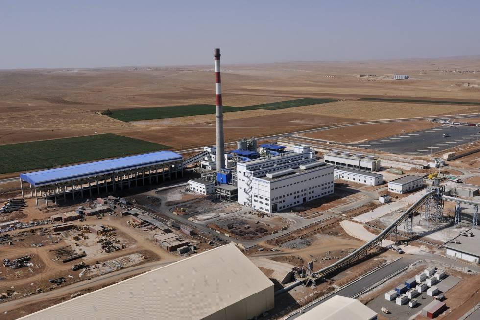 Vista general de la compañía de cemento Lafarge en el norte de Siria.