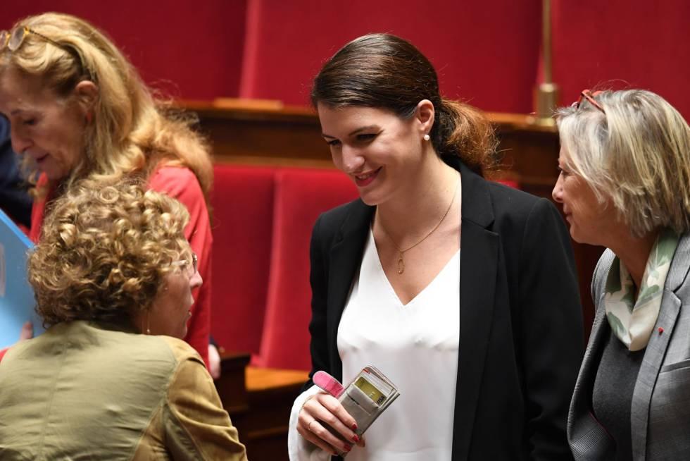 A secretária de Estado da Igualdade, Marlene Schiappa, no Parlamento.