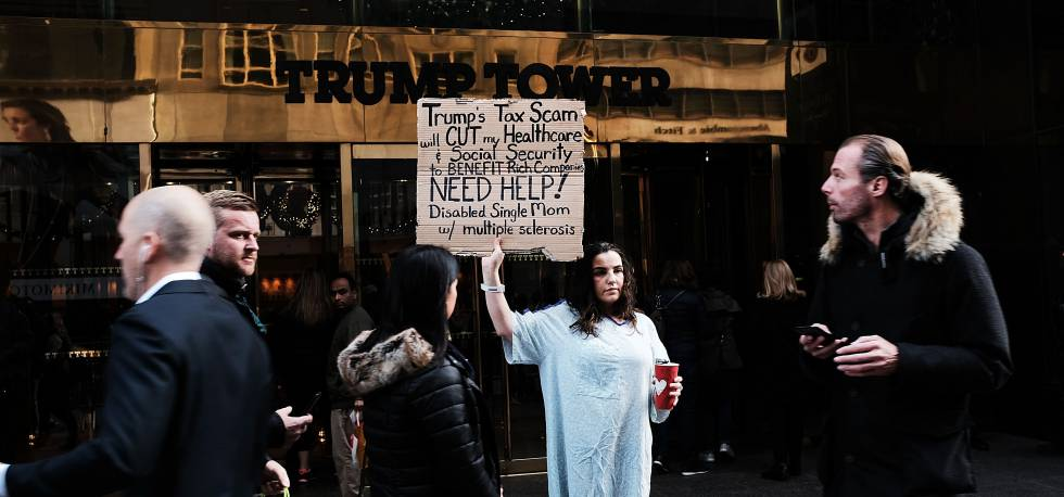 Manifestación contra la reforma fiscal en EE UU en noviembre. rn