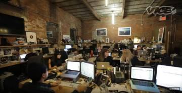 La redacción de Vice News, en un vídeo de la compañía.