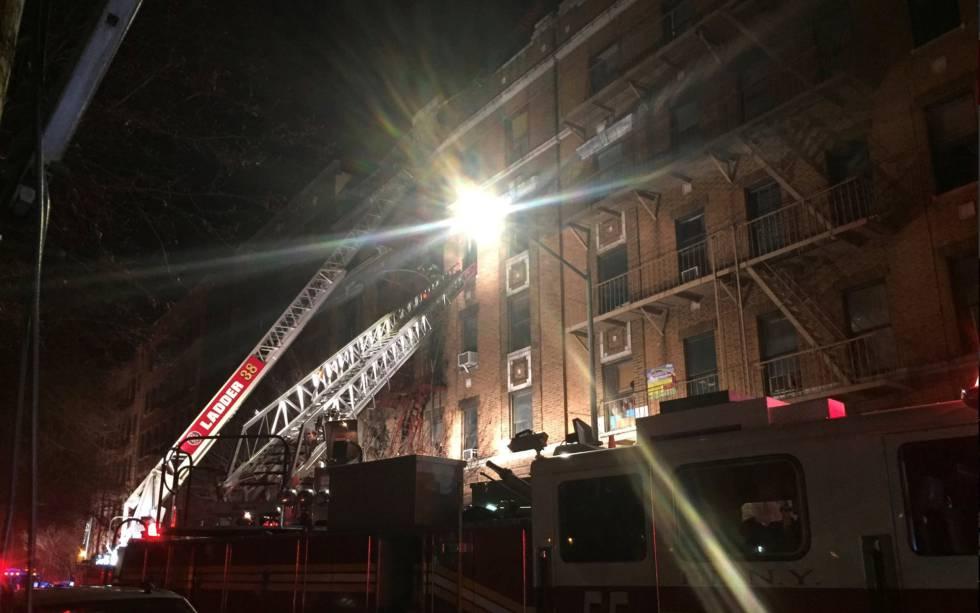Una escena del edificio del incendio