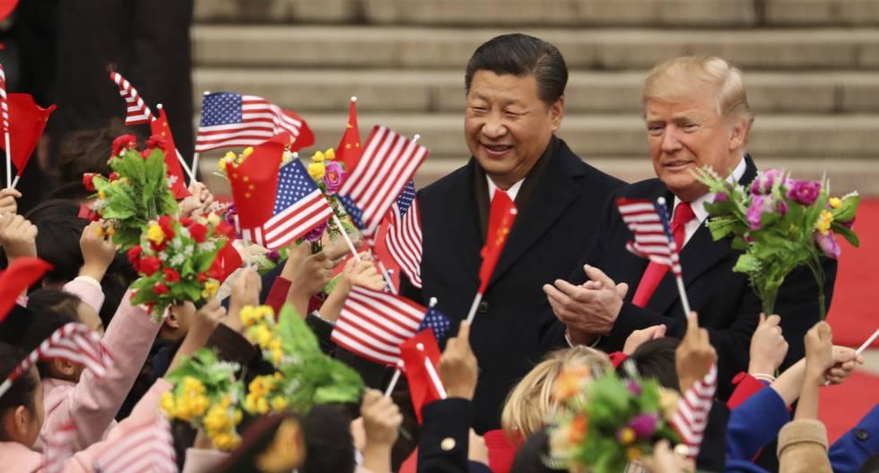 Donald Trump y Xi Jinping, el pasado mes de noviembre en Pekín.