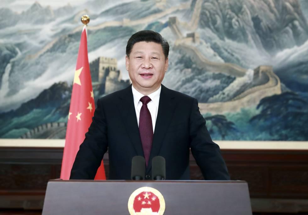 El presidente chino, Xi Jingping durante un discurso de Año Nuevo en Pekín en 2016. Foto cedida por la agencia de noticias Xinhua.