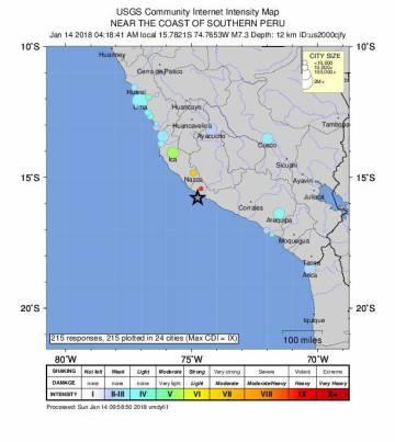 Localización del seísmo facilitada por el Servicio Geológico de Estados Unidos (USGS sus siglas en inglés).