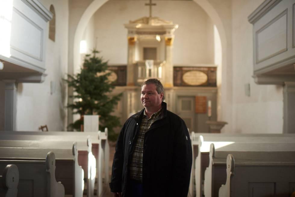 Thilo Kraneis, uno de la veintena de habitantes que ha decidido resistir en Pödelwitz, un pueblo del este de Alemania.