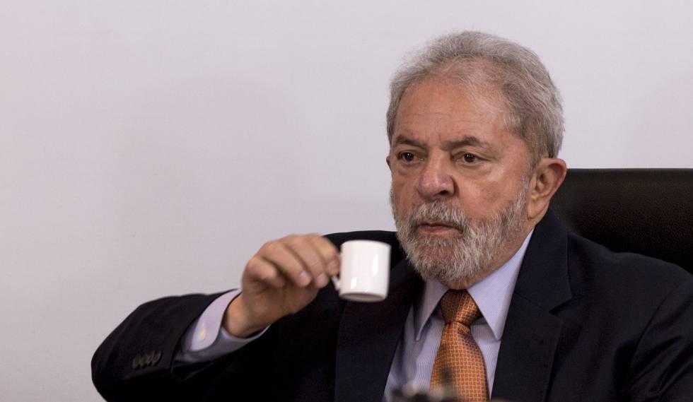 Lula Da Silva, durante la entrevista, este jueves