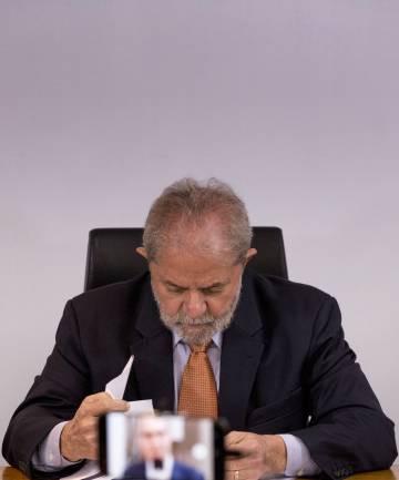 El expresidente brasileño, en otro momento de la entrevista