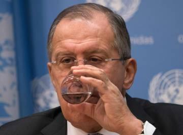 El ministro de Exteriores ruso durante la rueda de prensa