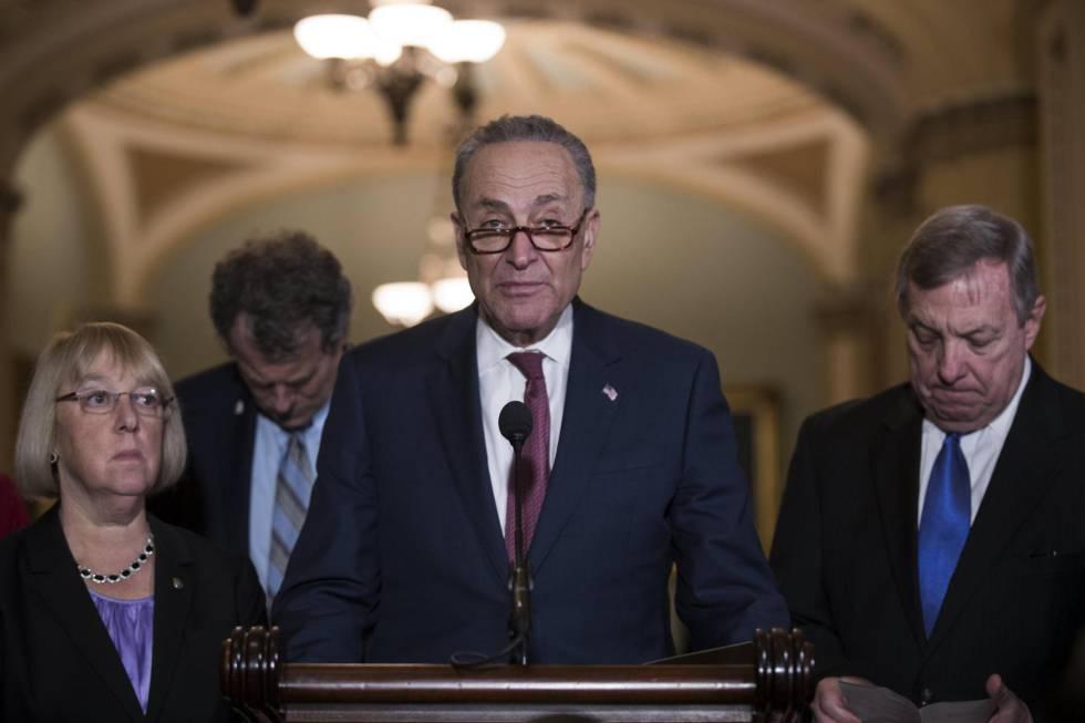 El líder de la minoría demócrata del Senado, Chuck Schumer, este martes