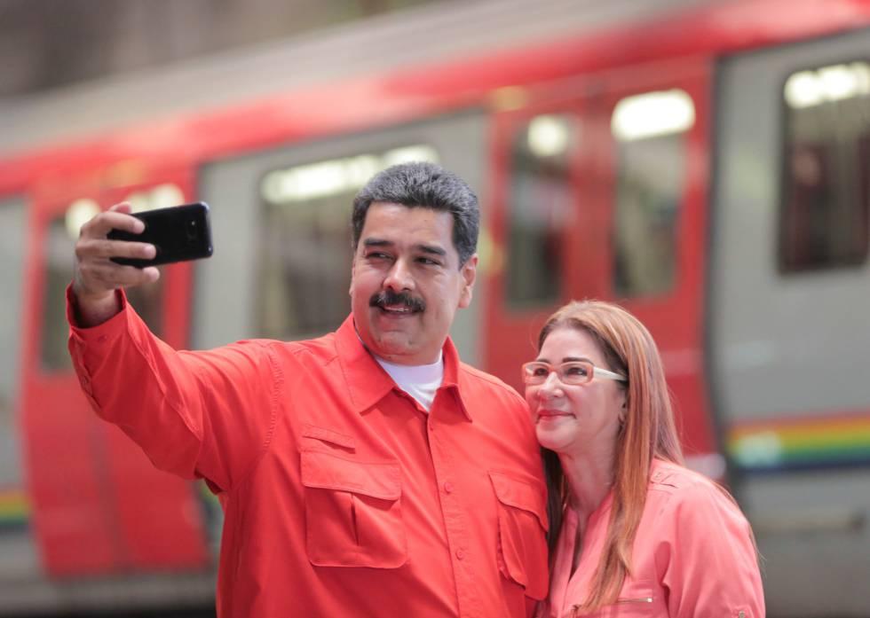 Maduro y su esposa, esta semana en Caracas.