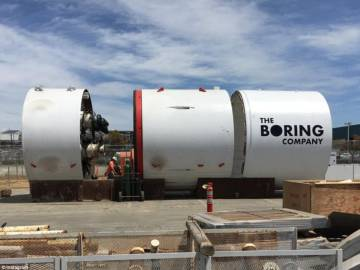 La tuneladora de The Boring Company.