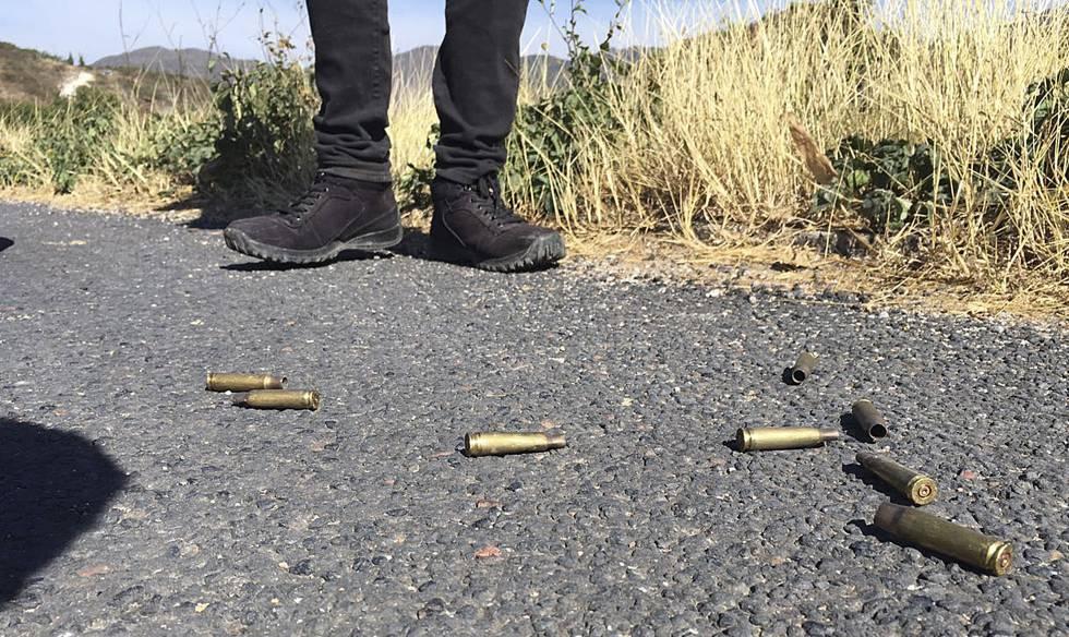Los restos de una persecución hace unos meses en Chilapa.