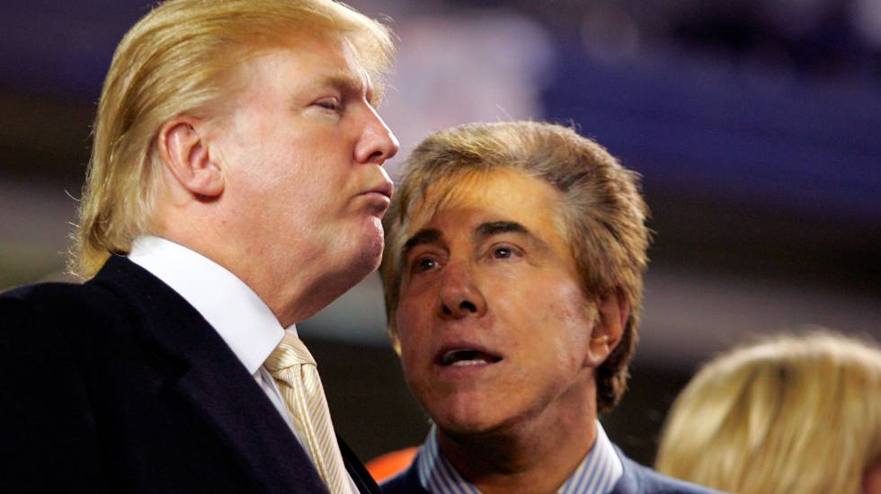El magnate Steve Wynn con el ahora presidente Donald Trump
