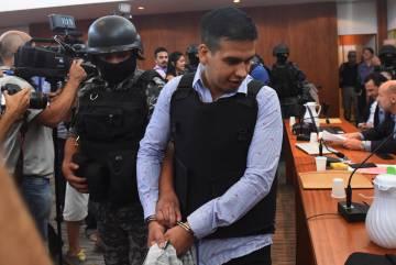 Ramón Machuca, integrante de Los Monos, el martes en el juicio contra la banda narcocriminal.