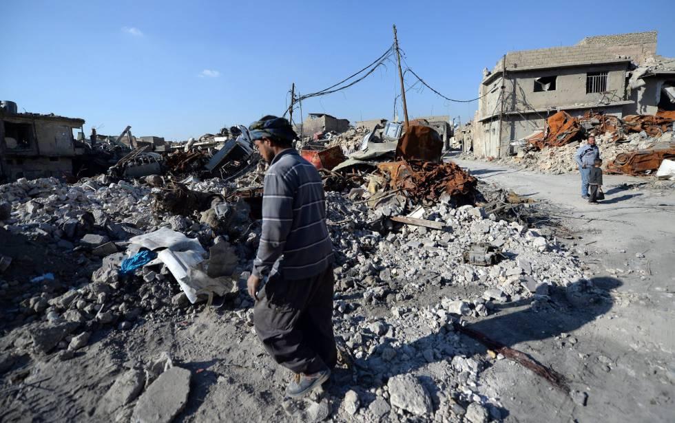 Una de las zonas destruidas de Mosul, el 31 de enero.
