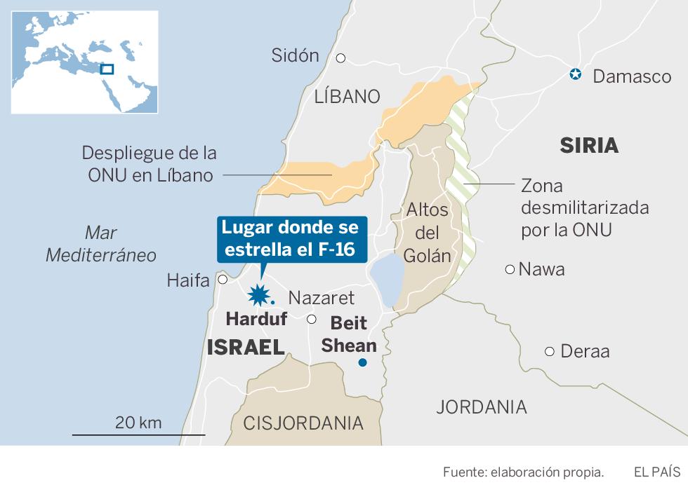 Siria derriba un caza israelí que participaba en una operación contra objetivos iraníes