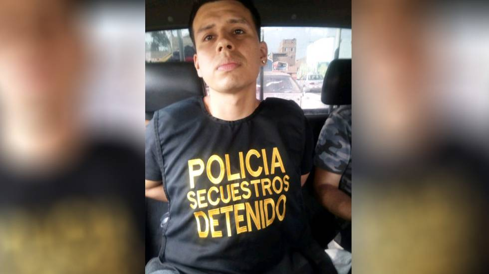 Alexander Delgado following his arrest.