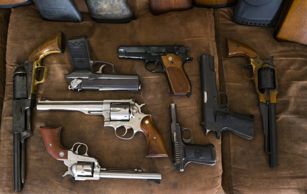 Scott Porter's pistols and revolvers, in Louisiana.