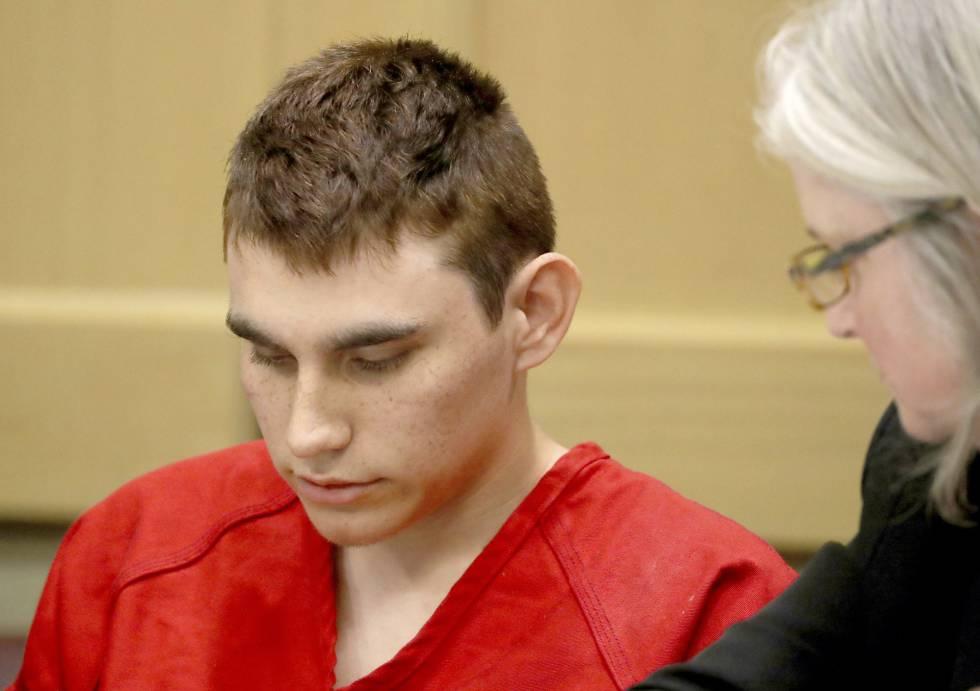 Nikolas Cruz este lunes en el juzgado.