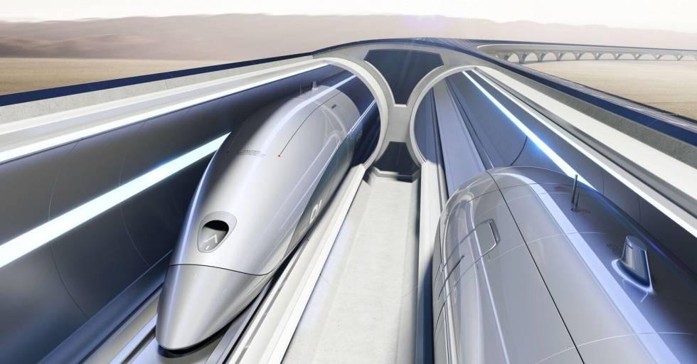 El sistema 'Hyperloop' de trenes que la India quiere implantar en Bombay.