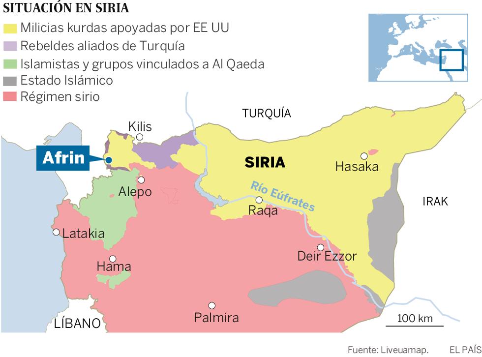 El Ejército turco se enfrenta a fuerzas de El Asad en un enclave kurdo de Siria