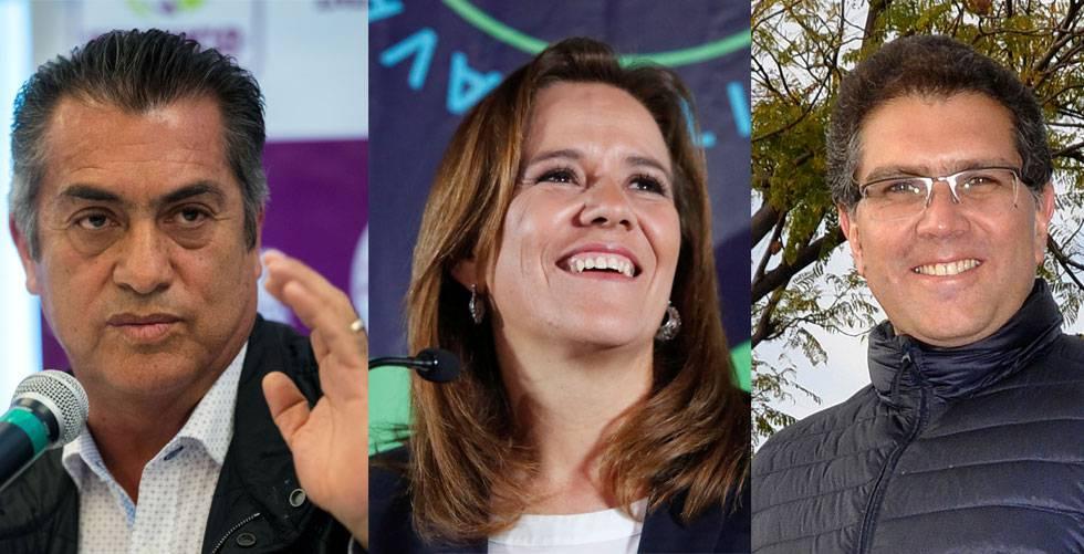 El Bronco, Margarita Zavala y Armando Ríos Piter.