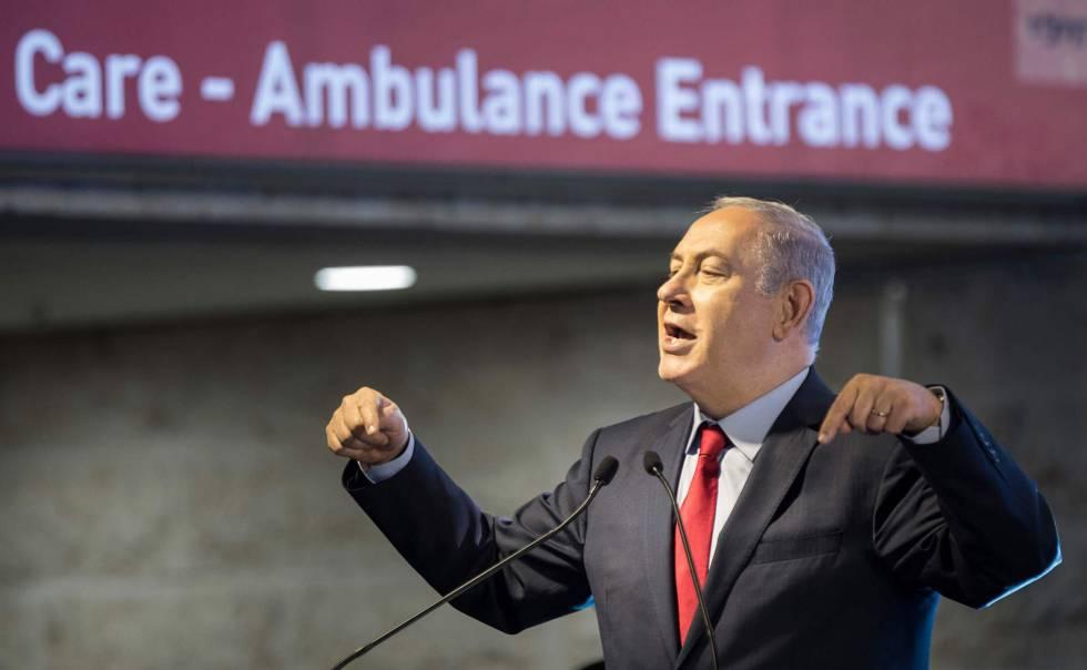 El primer ministro de Israel, Benjamín Netanyahu, el martes en la inauguración de un hospital.