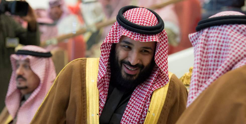 El príncipe saudí, Mohamed bin Salmán, en una ceremonia en Riad el pasado diciembre.