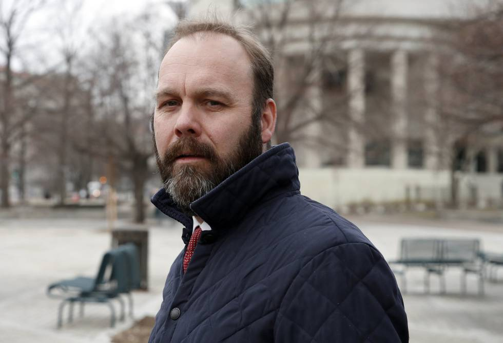 El imputado Rick Gates, en Washington.