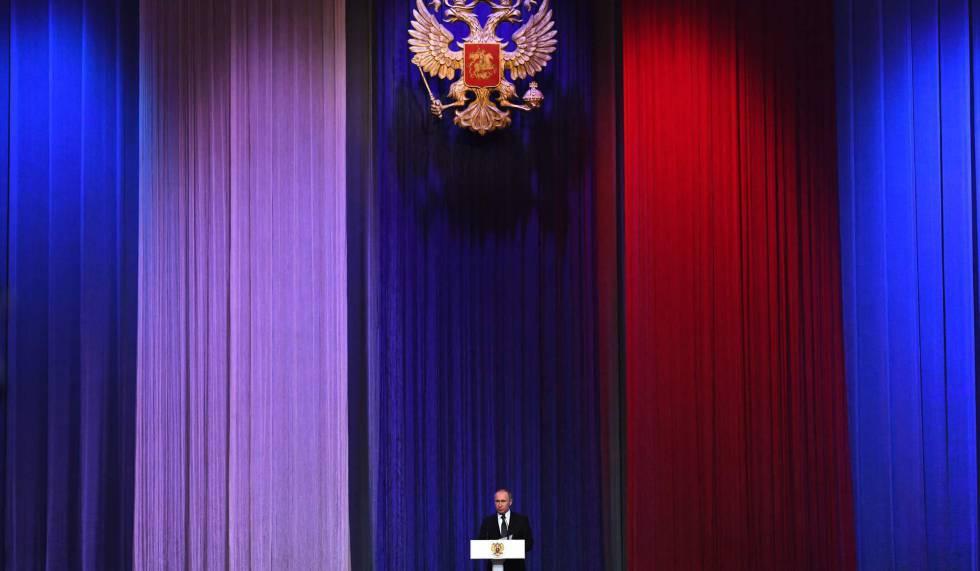 Vladímir Putin, durante una gala en el Kremlin, este jueves.
