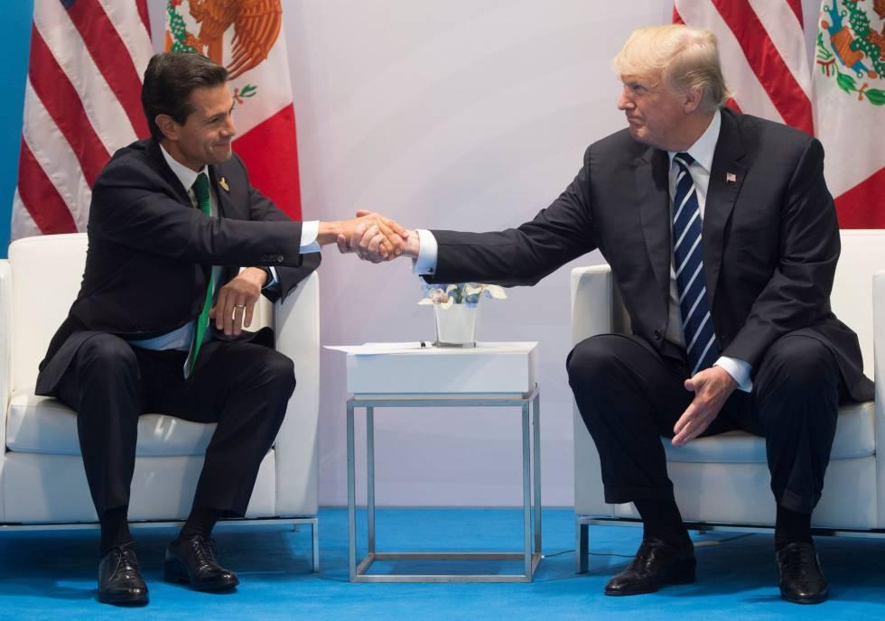 Peña Nieto y Trump, en el G-20 en Hamburgo el pasado mes de julio.
